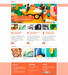 Jetro — многостраничный сайт портфолио/блог