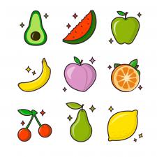 Иконки фруктов