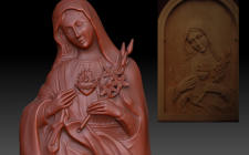 3D модель иконы, по фото готового изделия
