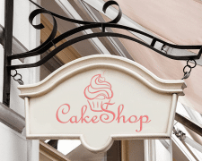 """вывеска """"CakeShop"""""""