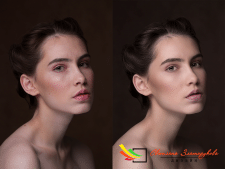РЕТУШЬ ПОРТРЕТА. Retouching of portrait.