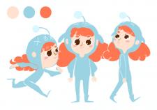 """Дизайн персонажа """"Рыжая малышка"""""""