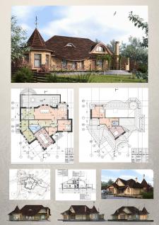 проект частного жилого дома  П-02