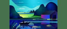 Пейзаж в Adobe Illustrator