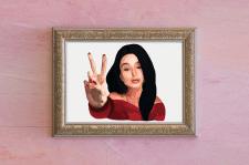 Рисунок графического портрета