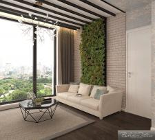 Однокомнатная квартира 47.7 метр ² (гостиная)