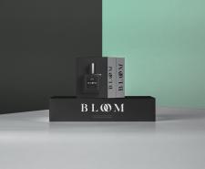 Упаковки духов - логотип парфюмерной BLOOM