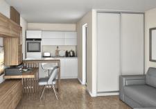 Визуализация квартиры студии в Словении