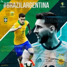 digital art for match day Brasil VS Argentina