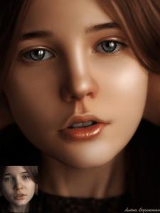 Обработка в стиле Арт/Doll face
