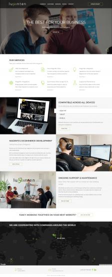 Новый сайт для бренда Luxinten
