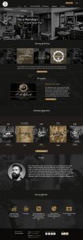 """Дизайн сайта для парикмахерской """"Barbershop"""""""