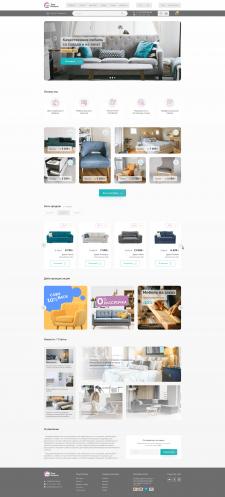 Дизайн-макет интернет магазина мебели