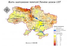 Карта забруднення території України цезієм-137