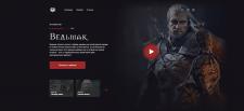 Верстка сайта посвященному сериалам