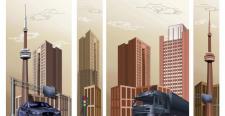 Городской пейзаж для офисного интерьера