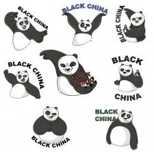 Стикерпак панды кунг-фу