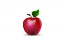красное яблоко вектор