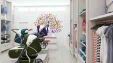 Дизайн и визуализация магазина детской одежды