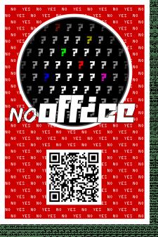 """Рекламная наклейка """"NoOffice"""""""