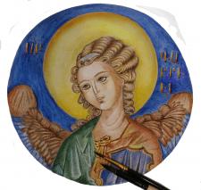 Святой Архангел Гавриил акварель