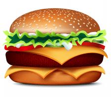 Иллюстрация для закусочной. Гамбургер.