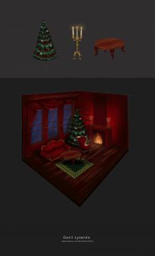 Иллюстрация Рождественская ночь