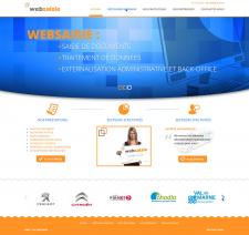 Создание сайта для французской компании