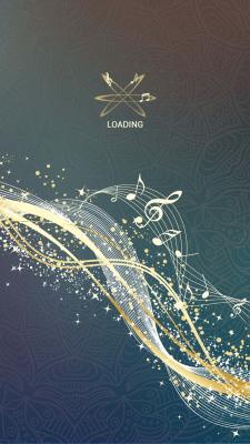 Splash screen для музыкального приложения