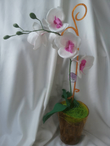 Орхидея Фаленопсис из фома на 1 ветку белая
