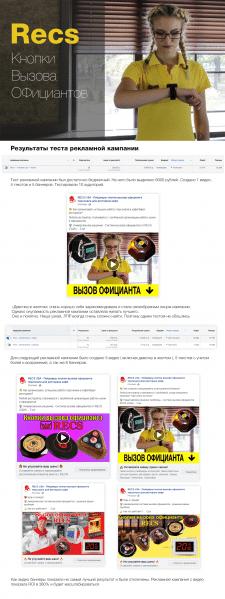 Реклама RECS - кнопки вызова официантов