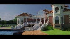 Визуализация фасада коттежда