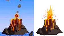 Векторизация вулкана