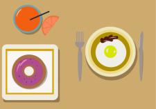 Флэт иллюстрация. Завтрак