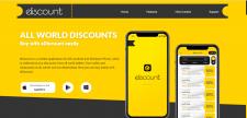 Landing page для мобільного додатку Ediscount