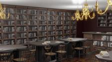 Визуализация и дизайн интерьера библиотеки