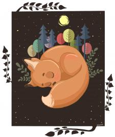 Сон лисёнка