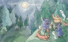 Иллюстрация для детской книги в акварельном стиле
