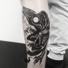 Тату оборотень tattoo werewolf