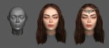 2D текстурирование 3D головы персонажа