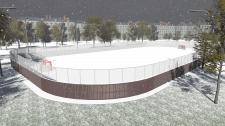 Хоккейная площадка, предпроект.