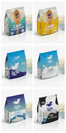 Дизайн упаковки для творога