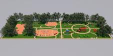 Эскиз  парковой зоны.