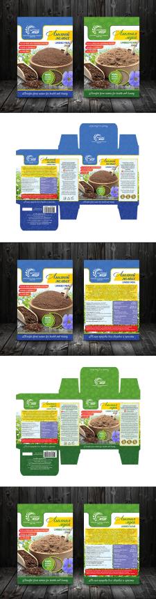 Дизайн упаковки для льняного жмыха и льняной муки