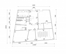 Пример расстановки мебели+чертеж