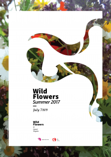 Wild Flowers Exhibition poster