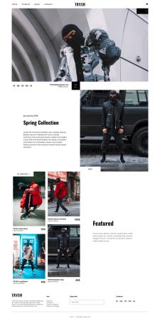 TRVSH — Дизайн интернет-магазина одежды