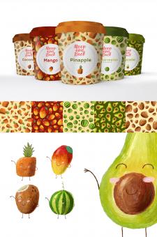 Разработка персонажей и упаковки для мороженного