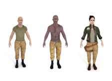 Low poly модели персонажей для игры