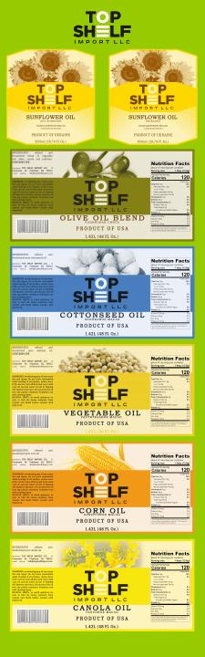 Розробка дизайну для етикетки олії